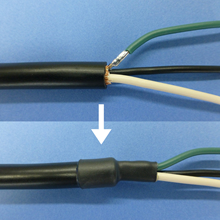 コネクタ、端末側シールド処理例